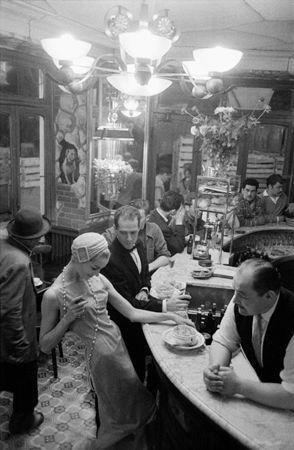 Tan Arnold at Chien qui Fume, for Le Jardin des Modes, Paris, France, 1957