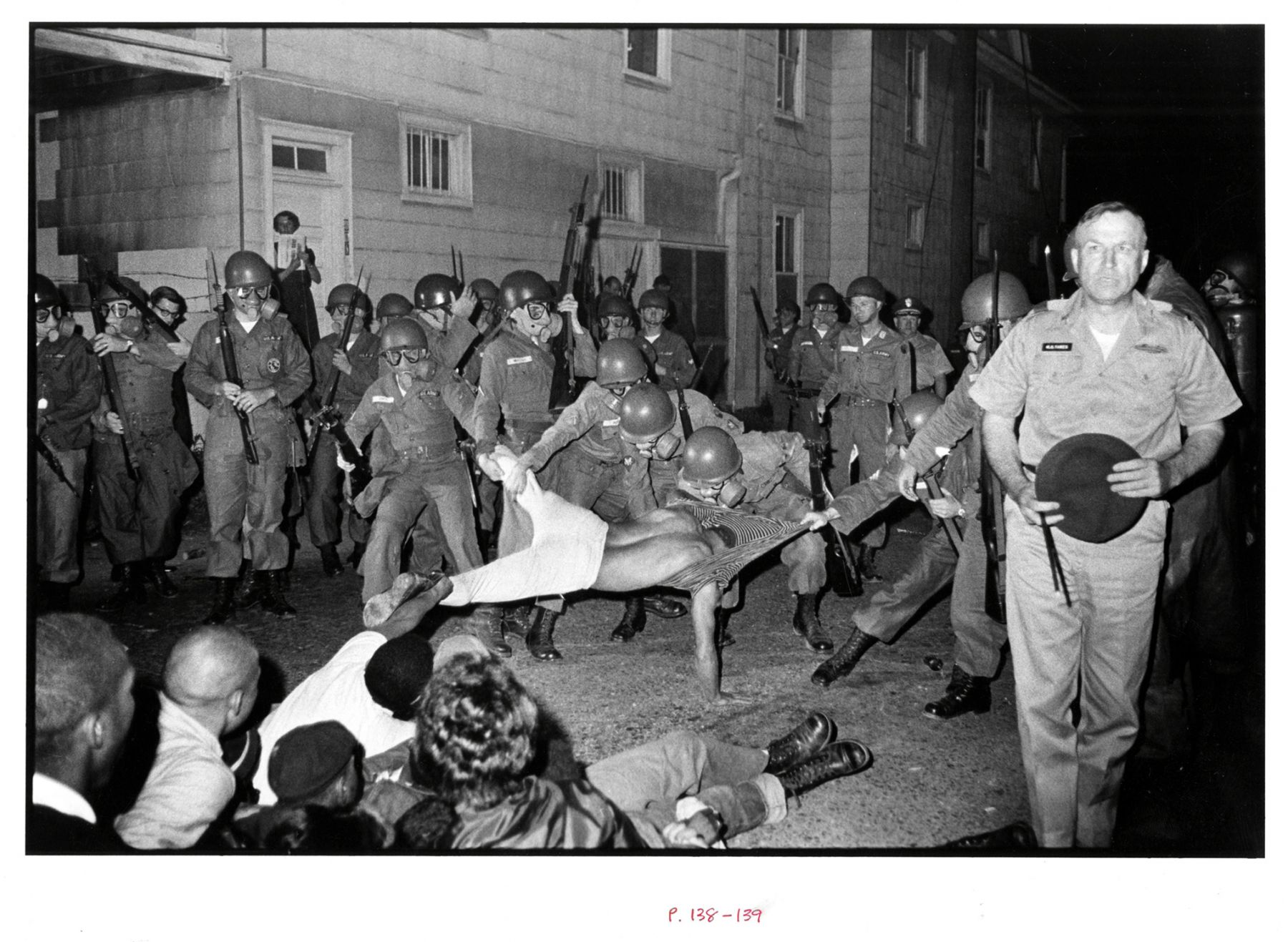 Copyright Danny Lyon / Magnum Photos, Cliff Vaughs, SNCC photographer, Arrested, Cambridge MD Spring,from Memories of The Southern Civil Rights Movement, 1964
