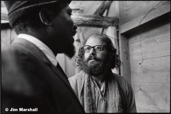 Monk and Allen Ginsberg, 1963, 11 x 14 Silver Gelatin Photograph