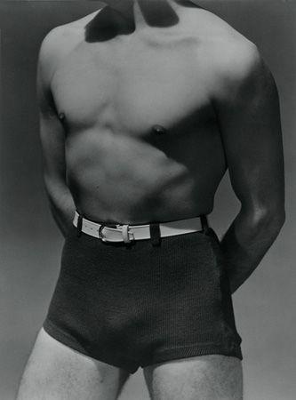 Horst Torso with Beachwear, c. 1930, 20 x 16 Platinum Palladium on 24 x 20 Paper, Ed. 27