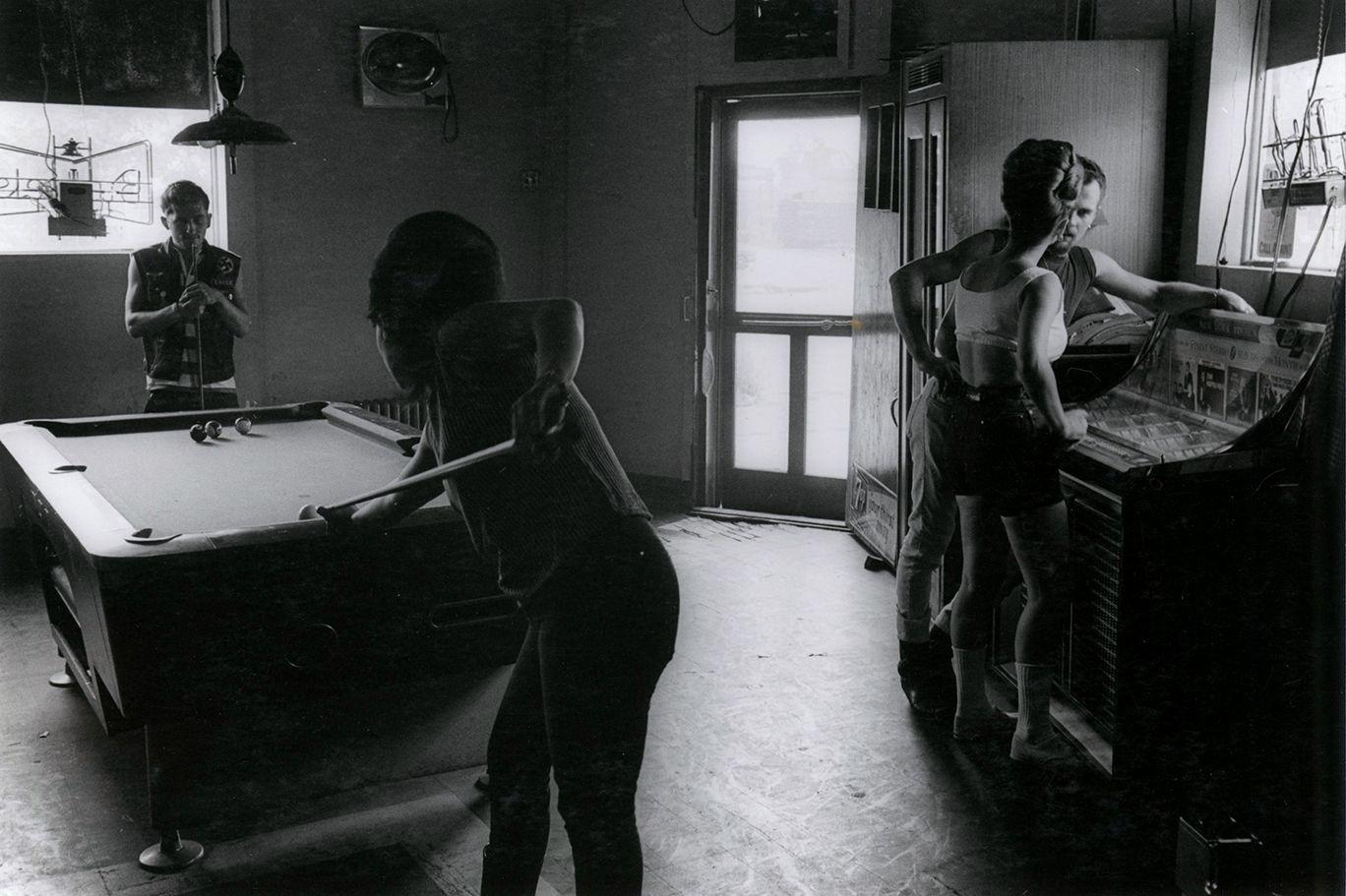 Copyright Danny Lyon / Magnum Photos, N.Y. Eddie's, Chicago, from The Bikeriders, 1966