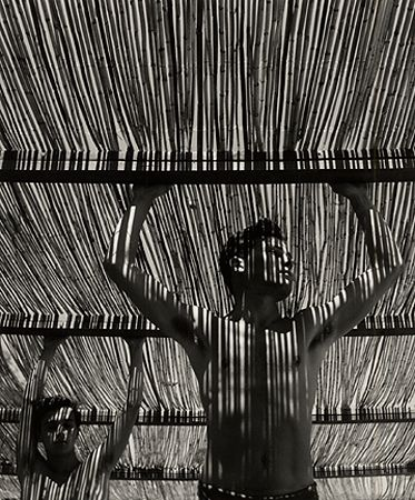Young Man Under Reed Roof, Torremolinos, 1951, Silver Gelatin Photograph