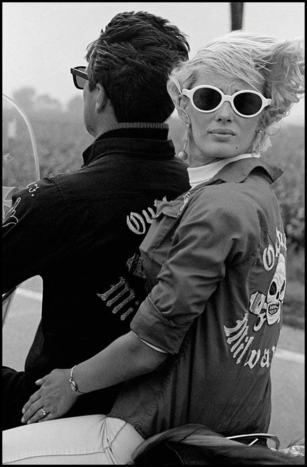 Copyright Danny Lyon / Magnum Photos, Memorial Day Run, Milwaukee, from The Bikeriders, 1966