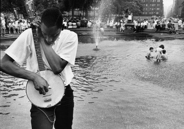 Street Musician, Washington Square, NYC, 1960, 16 X 20 Silver Gelatin Photograph, Edition of 25