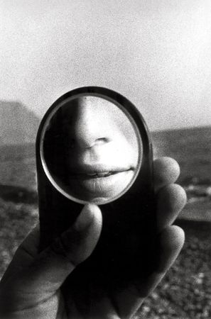 Untitled (MJ in Little Mirror), 1980, 14 x 11 Silver Gelatin Photograph, Ed. 25