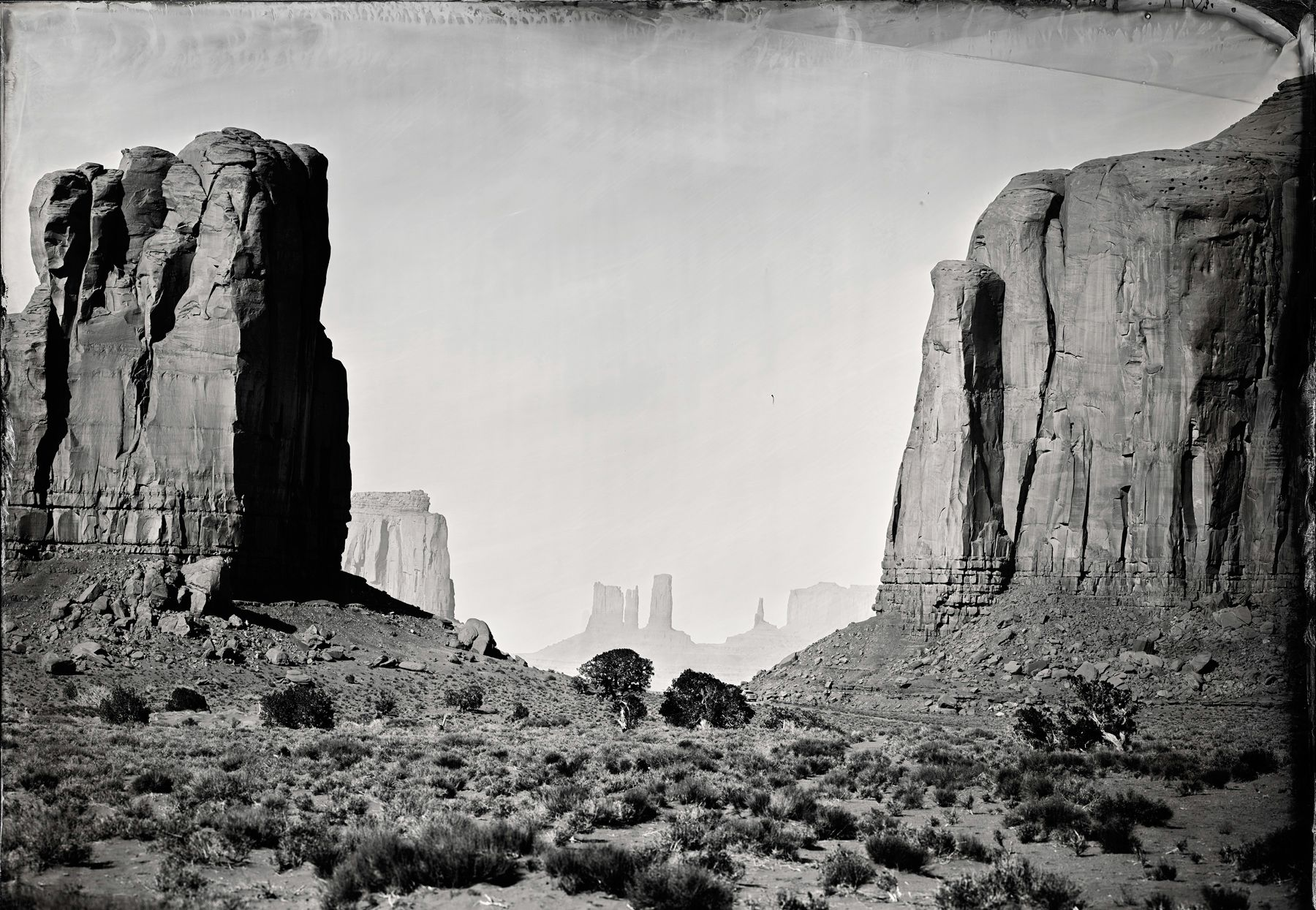 John Ford, Monument Valley, 2014, Unique Collodion Wet Plate