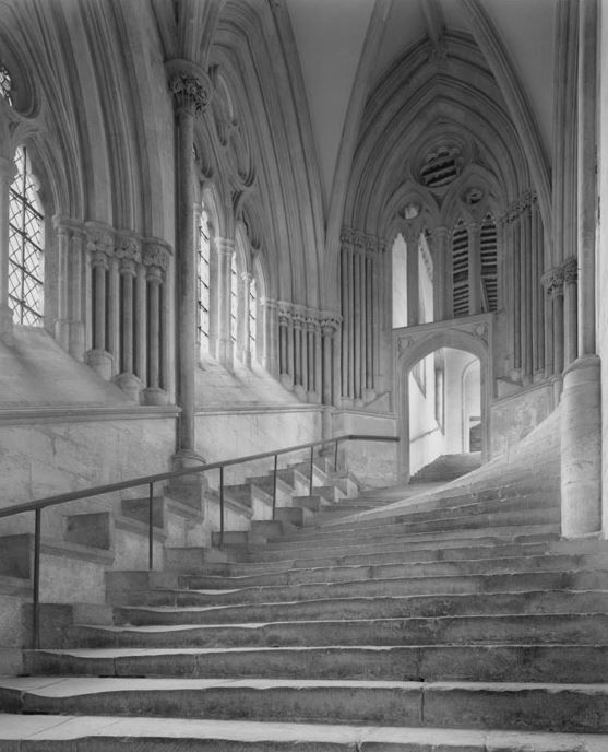 Stairway, Wells Cathedral, 20 x 16 inches, Silver Gelatin Photograph