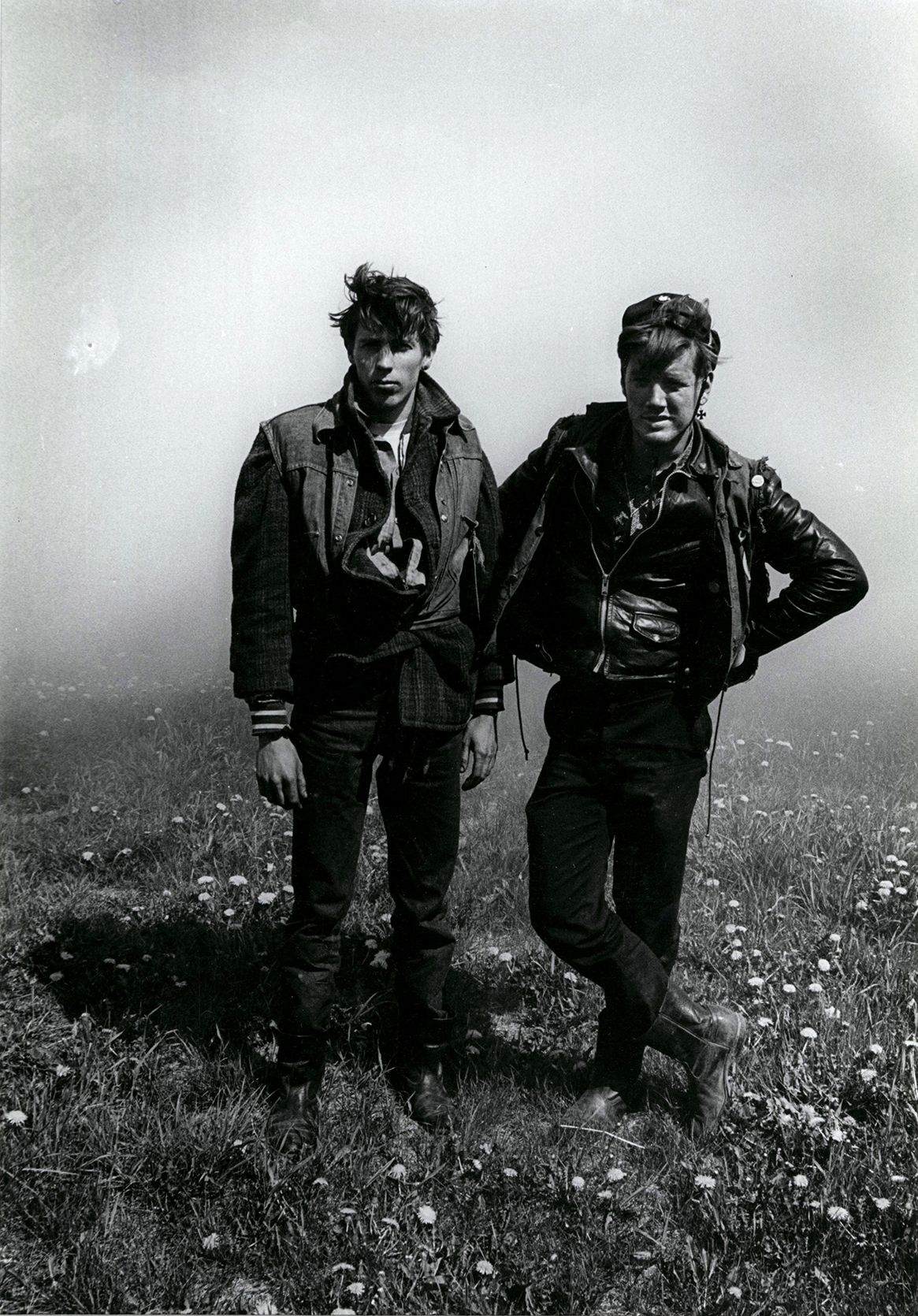 Dave and Rawhide (Columbus Outlaws), Elkhorn, Wisconsin, from The Bikeriders, 1966