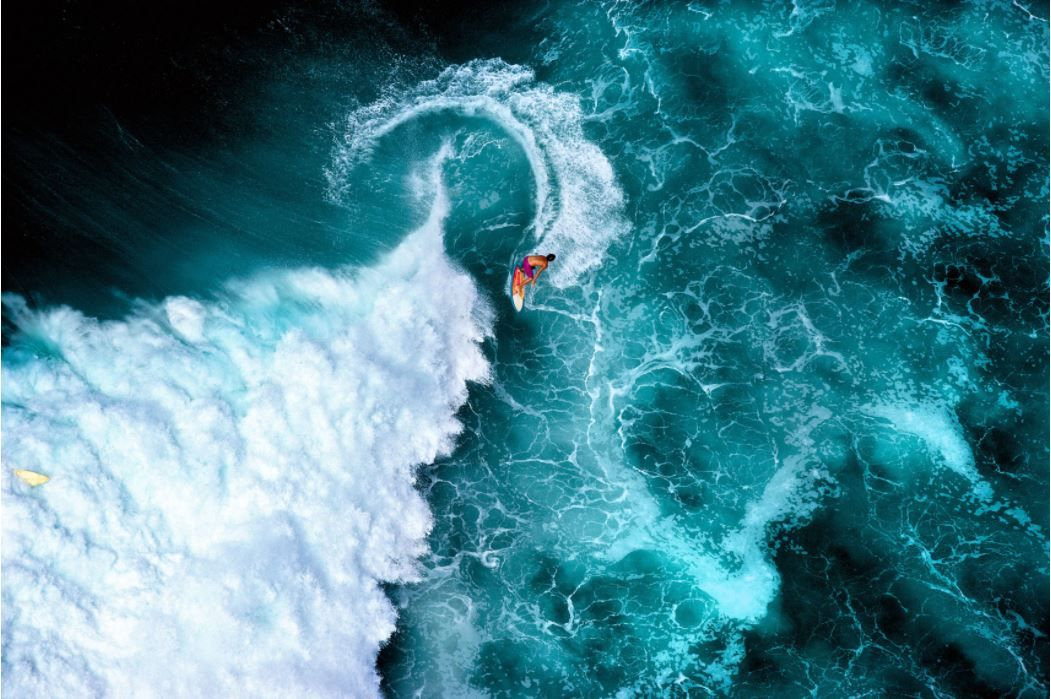 Pipeline Masters, Oahu, HI (Laforet Surfers Tilt-Shift Aerial 06)