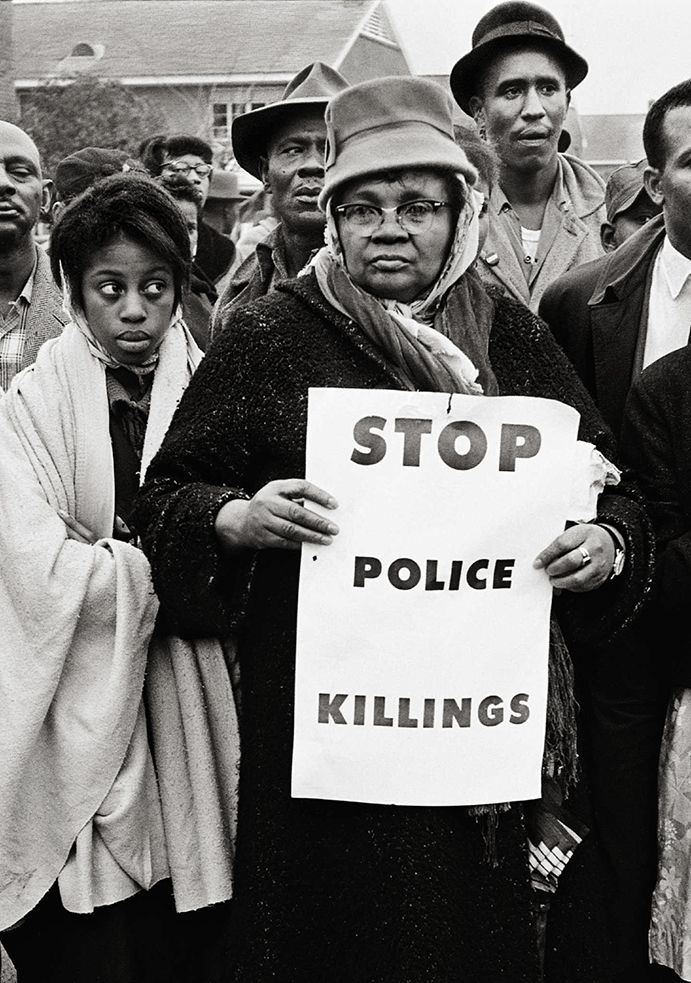 Stop Police Killings, Selma, 1965, 20 x 16 Inches, Silver Gelatin Photograph, Edition of 25