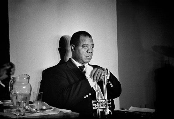 Louis Armstrong, Paris, 1960, 14 x 11 Silver Gelatin Photograph