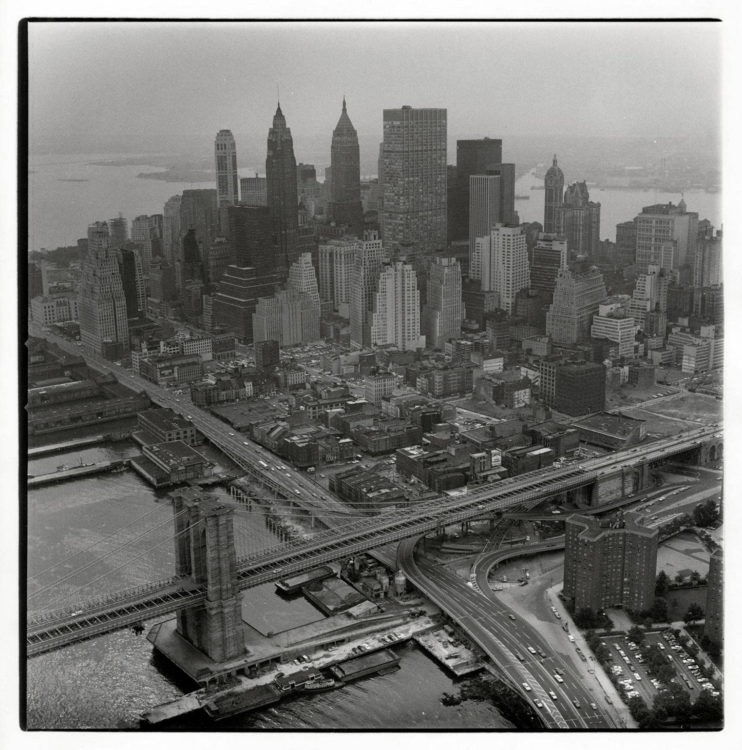 Aerial View of Manhattan (variant), from The Destruction of Lower Manhattan, 1966