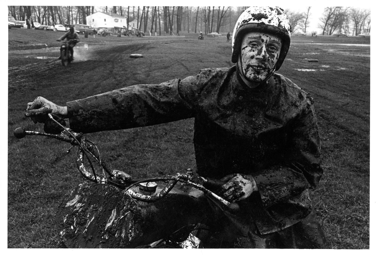 Copyright Danny Lyon / Magnum Photos, Racer, Shererville, Indiana, from The Bikeriders, 1965