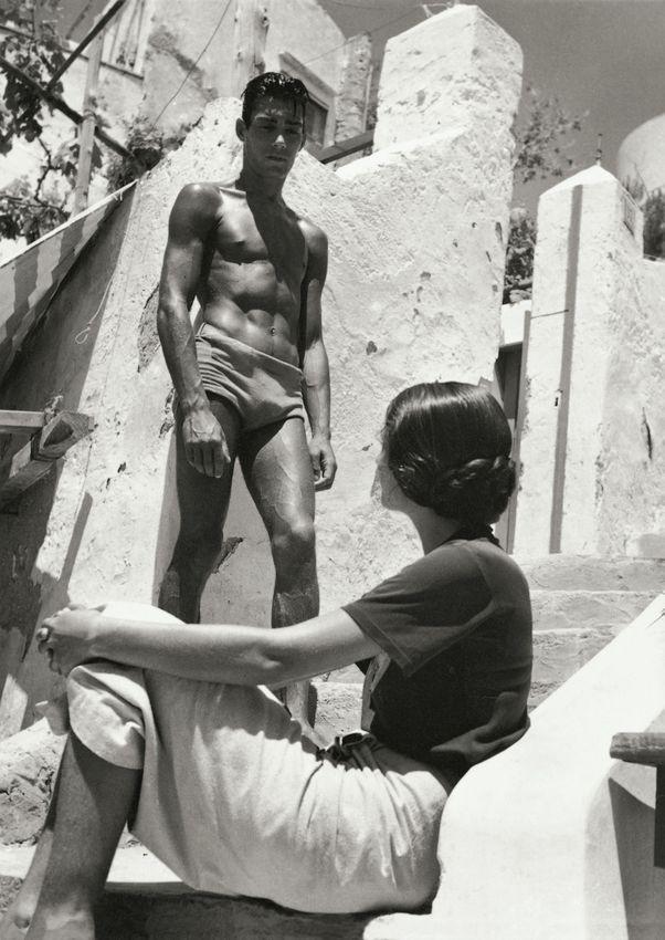 Flirt on Capri, Island of Capri, Italy, 1935, Silver Gelatin Photograph