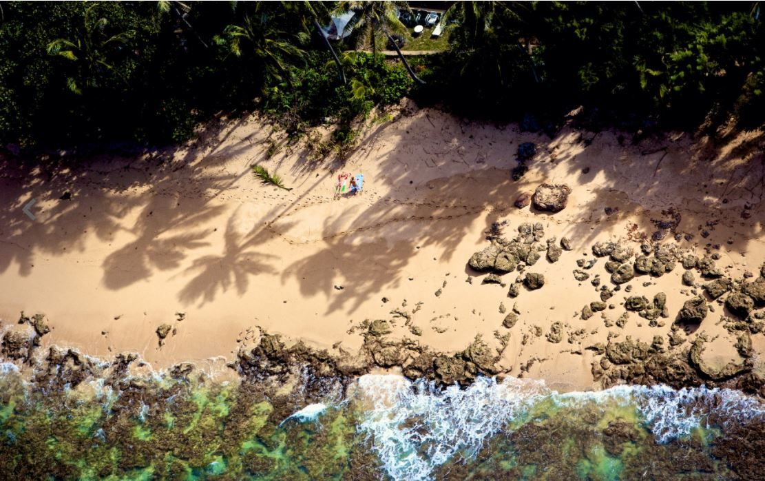 Oahu, Hawaii (Laforet Surfers Aerial 13)