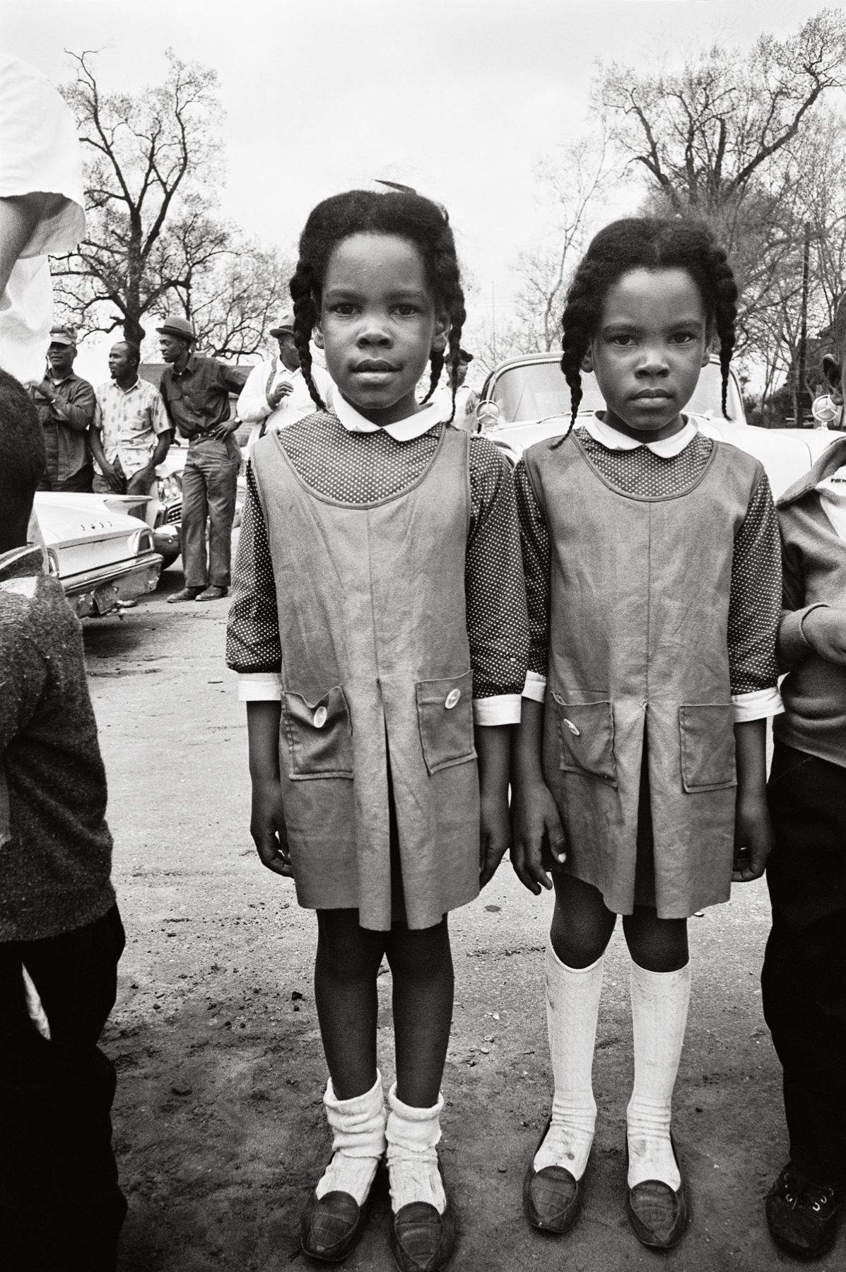 Two Girls Watching the March, Selma, 1965, 20 x 16Inches, Silver Gelatin Photograph, Edition of 25