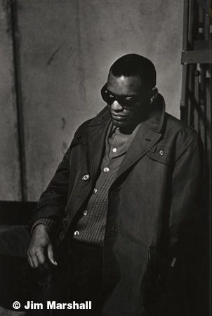 Ray Charles (Leaning), 1960, 14 x 11 Silver Gelatin Photograph
