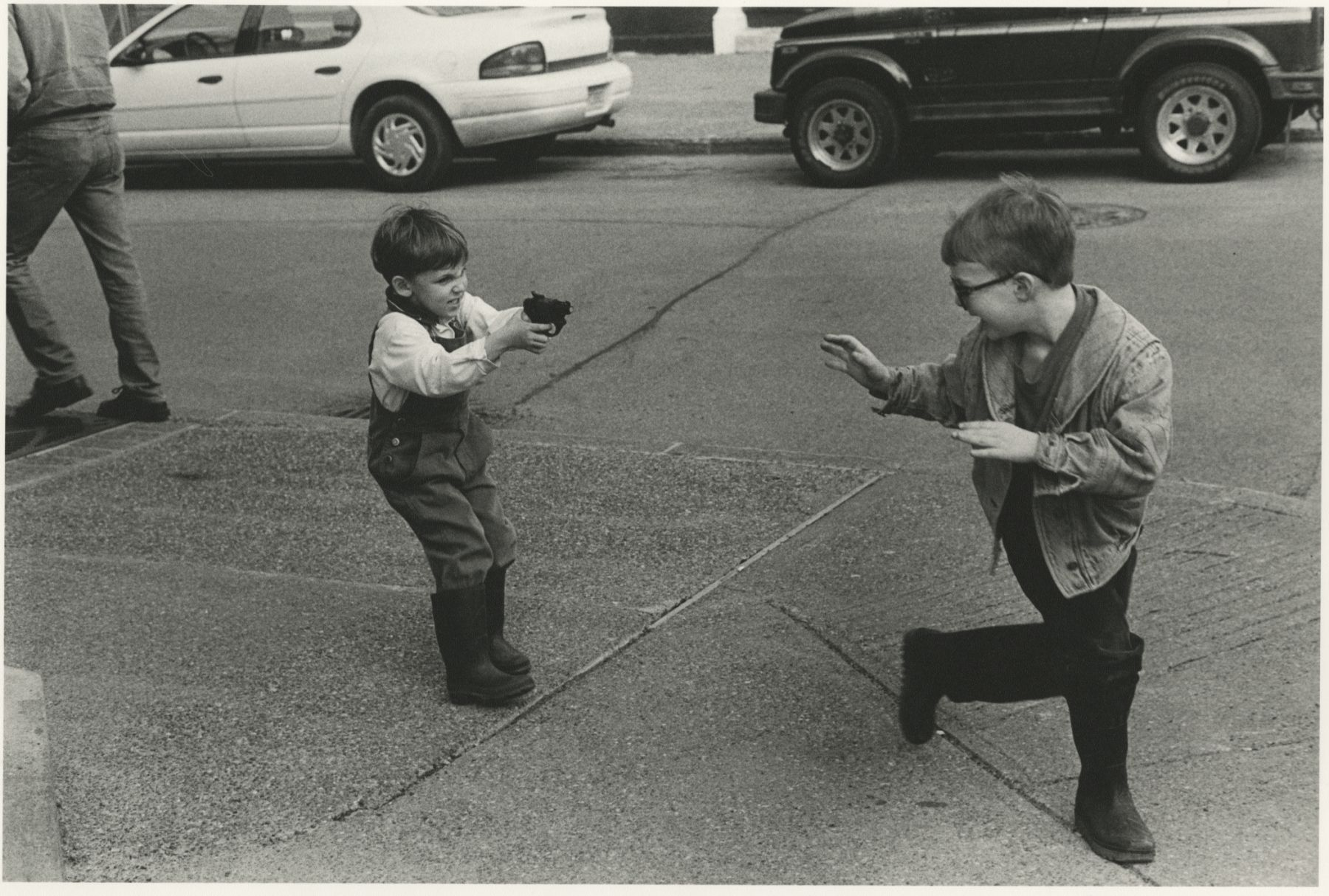 Incident on Rue Roy, Montreal, 1996, Silver Gelatin Photograph