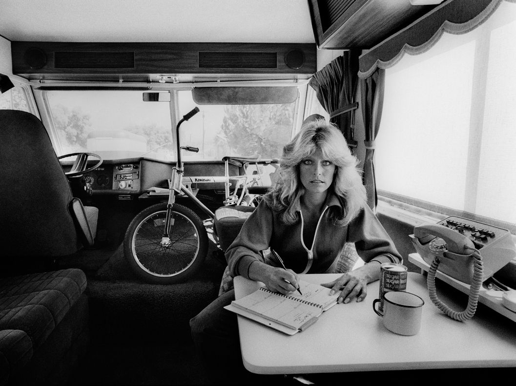 Farrah Fawcett in her Charley's Angels mobile home, People Magazine, 1976, Silver Gelatin Photograph