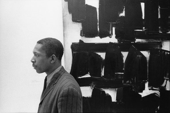 John Coltrane at the Guggenheim, New York City, 1960, 20 X 24 Silver Gelatin Photograph, Edition of 25