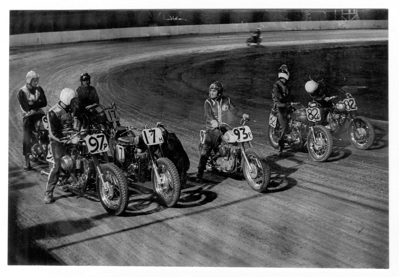 Copyright Danny Lyon / Magnum Photos, Santa Fe Track, Chicago, from The Bikeriders, 1965