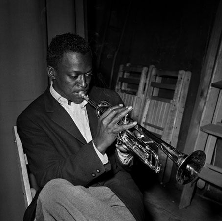 Miles Davis, New York City, 1949, 11 x 14 Silver Gelatin Photograph