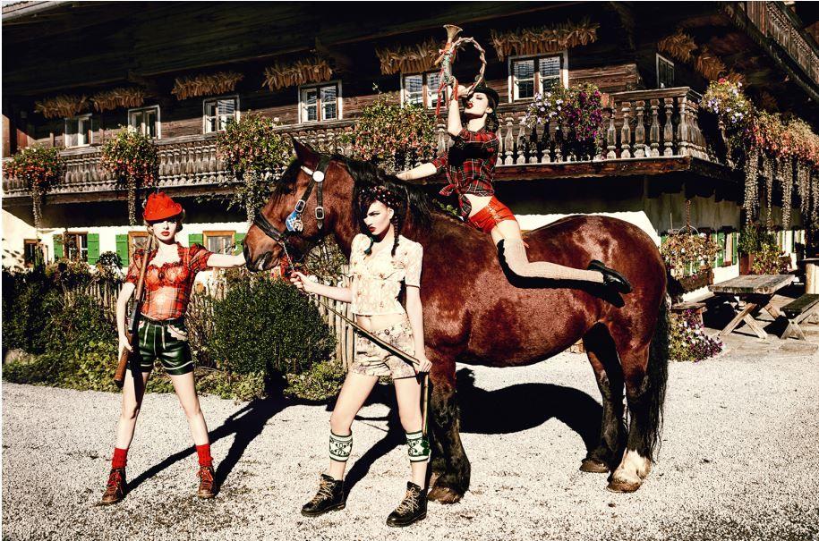 On the High Horse, Bavaria, 2015, C-Print