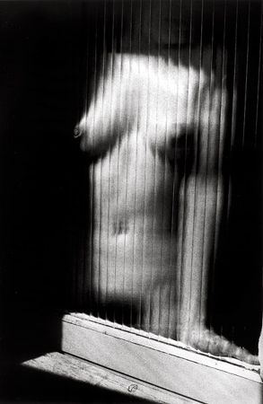 Untitled (Nude Through Ribbed Glass), 1987, 14 x 11 Silver Gelatin Photograph, Ed. 25