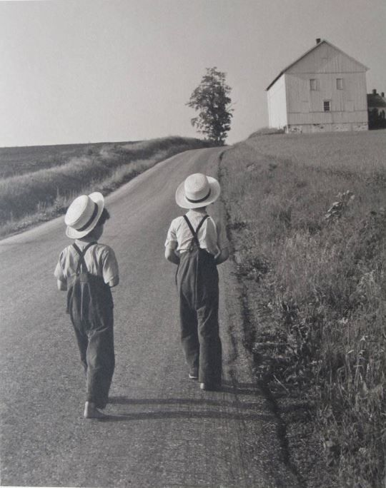 George Tice, Two Amish Boys, Lancaster, PA, 1962