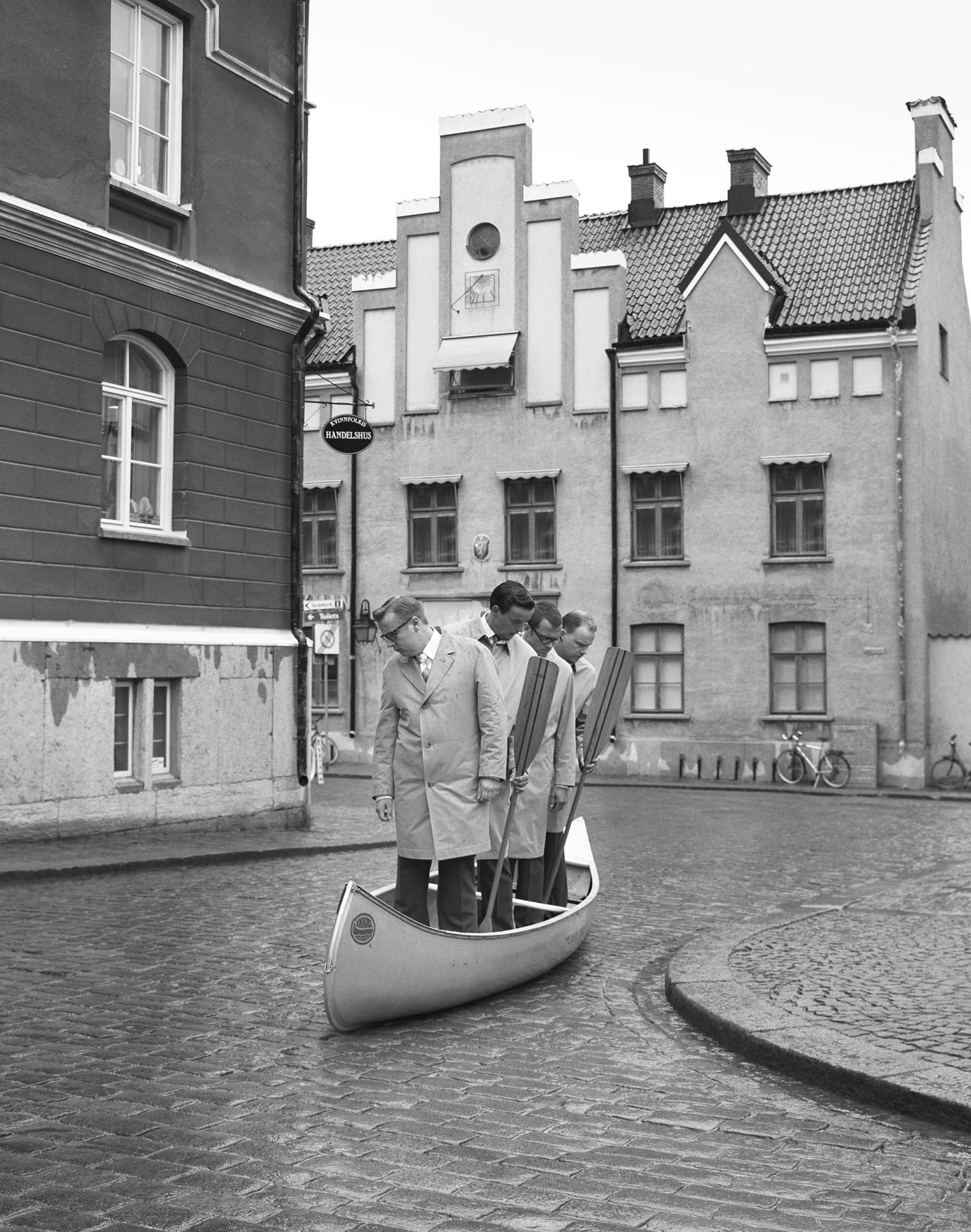 Four Men Waiting in Canoe, Gotland, 2000, Archival Pigment Print