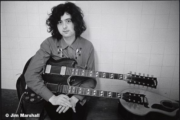 Jimmy Page, 1971, 11 x 14 Silver Gelatin Photograph
