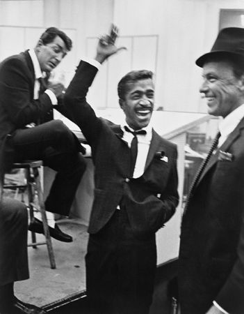 The Rat Pack, (Dean Martin, Frank Sinatra, and Sammy Davis, Jr., Laughing), 1954