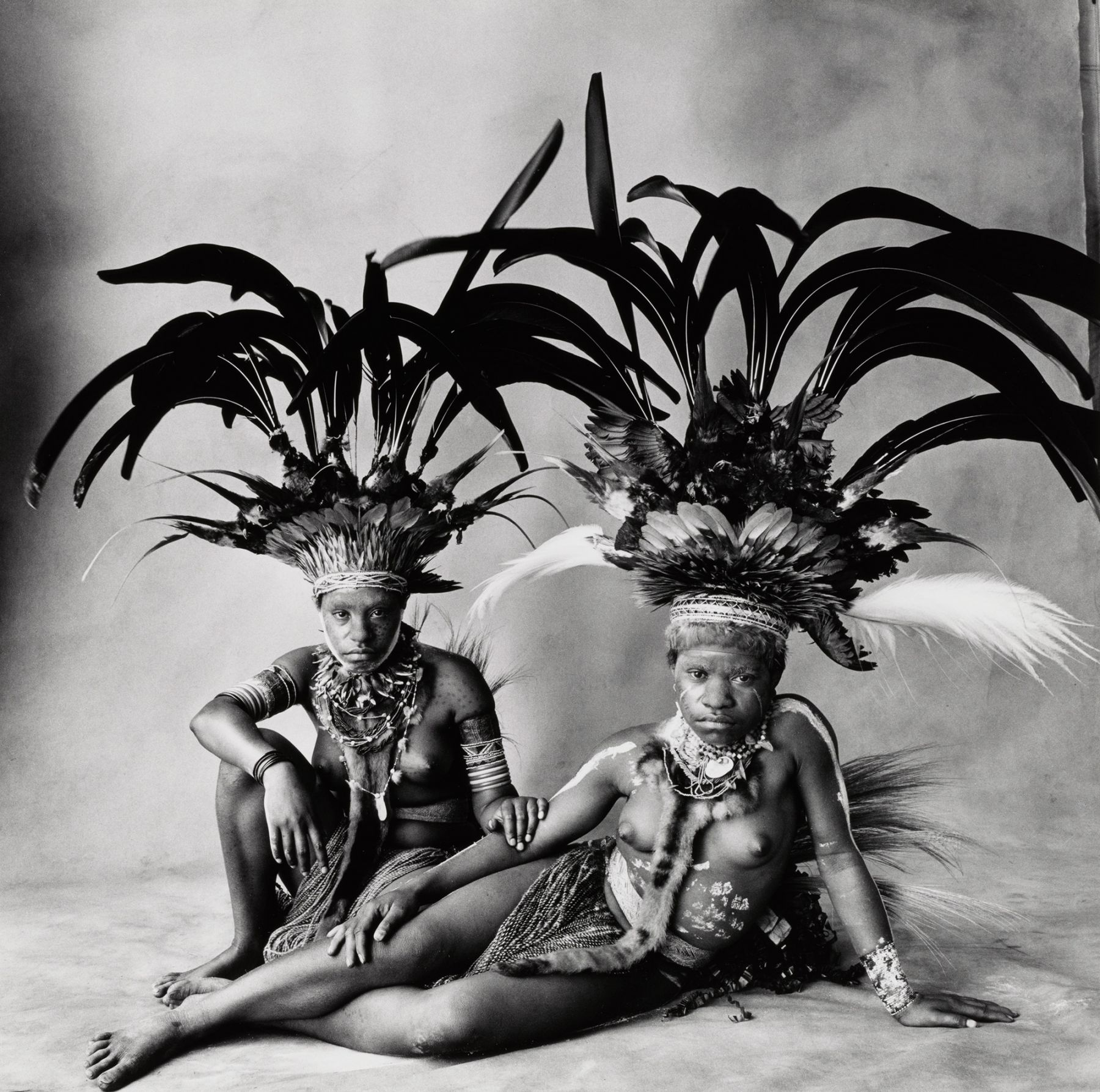 Two Young Nondugl Girls, New Guinea, 1970, Vintage Silver Gelatin Photograph, Ed. of 7