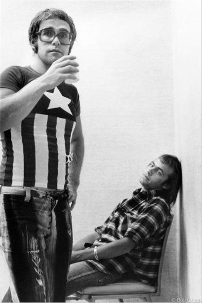 Elton John & Bernie Taupin, New York, NY, 1971, 11 x 14 Silver Gelatin Photograph