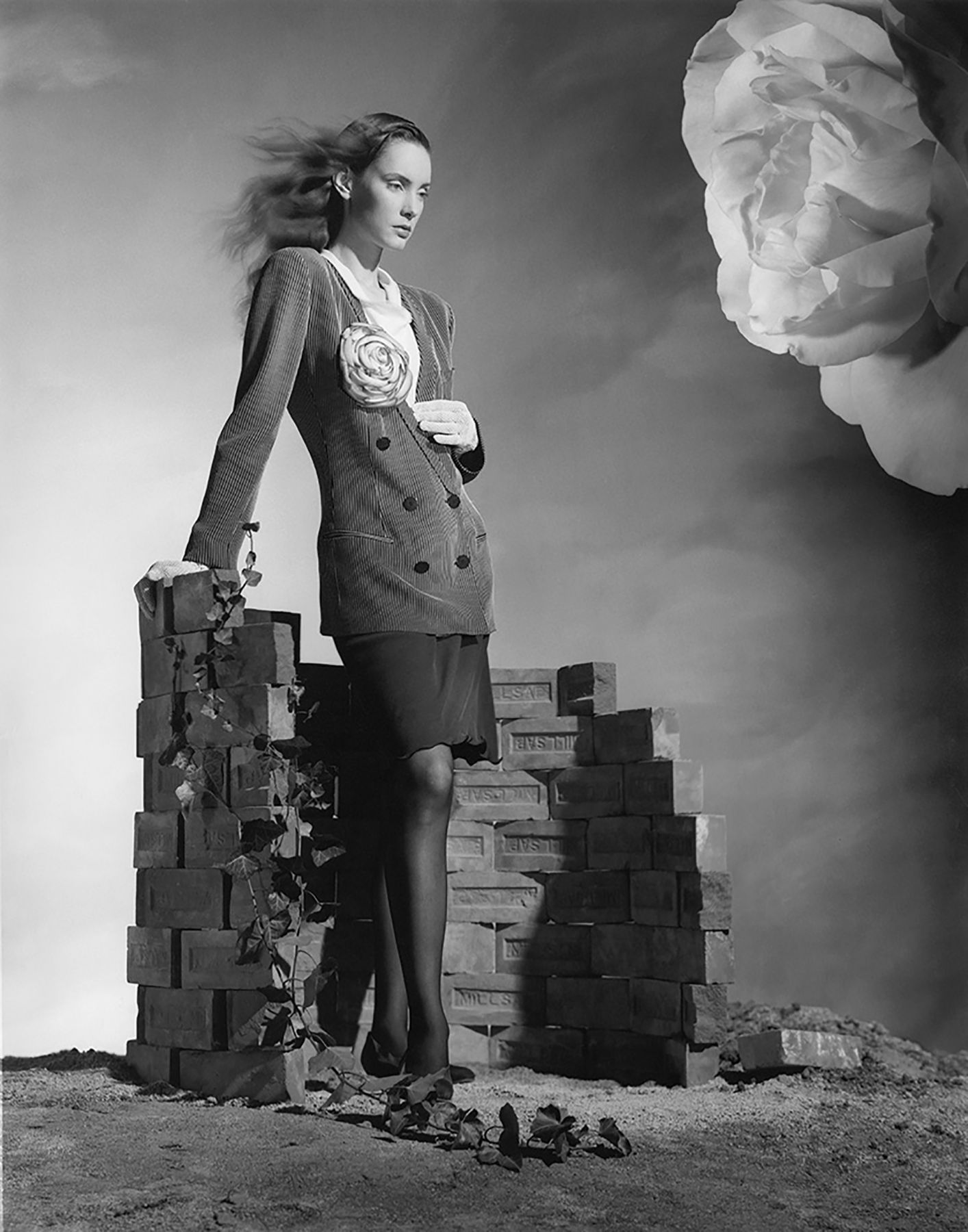 Fashion with Low Brick Wall, 1987, Archival Pigment Print