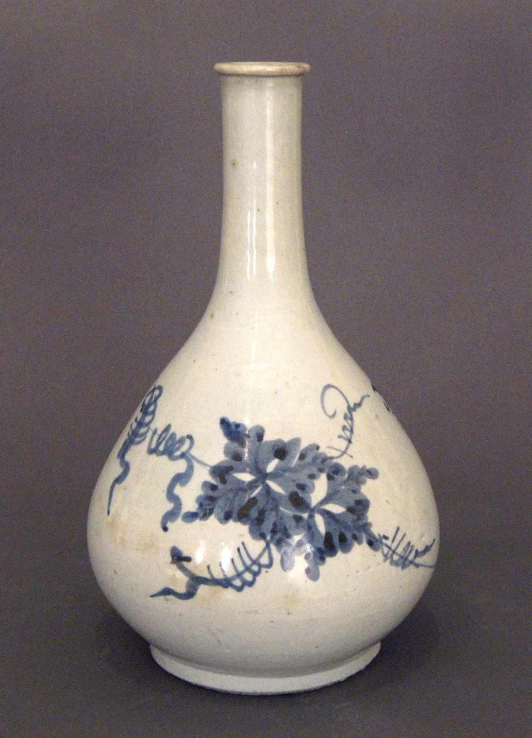 Blue and White Porcelain Bottle