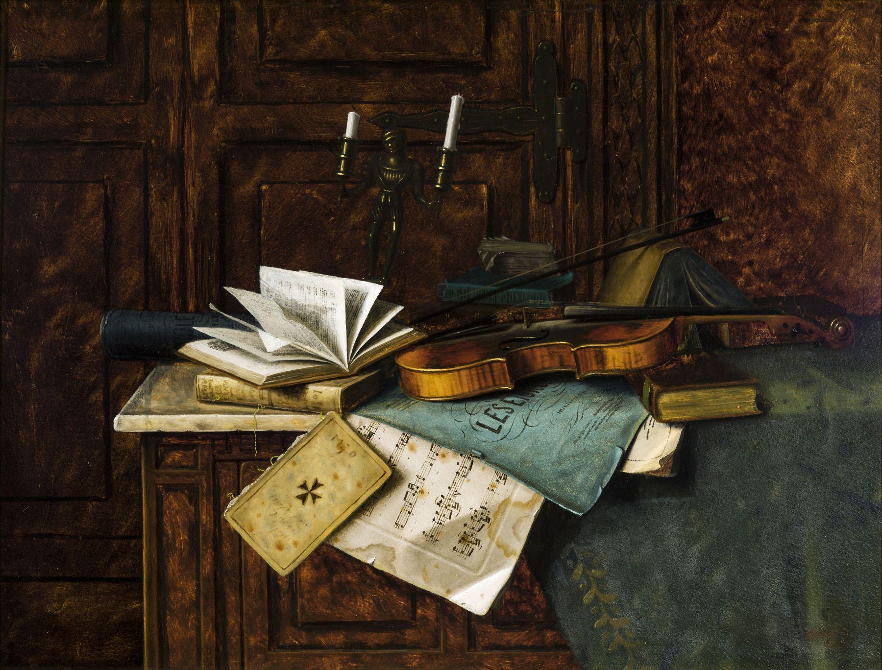 WILLIAM MICHAEL HARNETT (1848–1892), Music, 1885