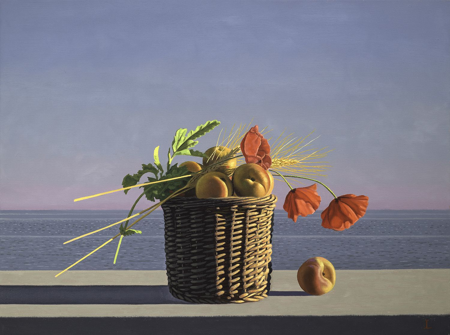 David Ligare (b. 1945), Still Life with Apricots, Wheat and Poppies (Offering), 2018