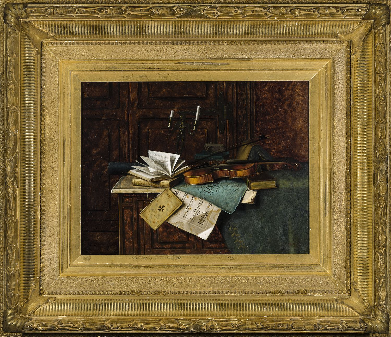 William Michael Harnett (1848-1892), Music, 1885