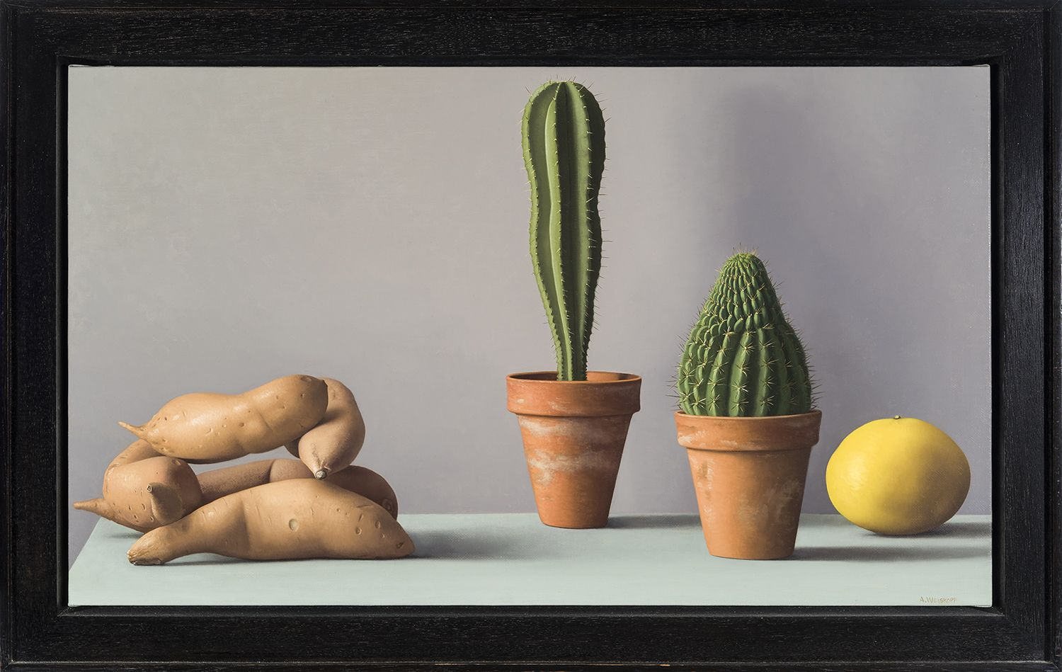 Amy Weiskopf (b. 1957), Still Life with Sweet Potatoes and Cacti, 2006