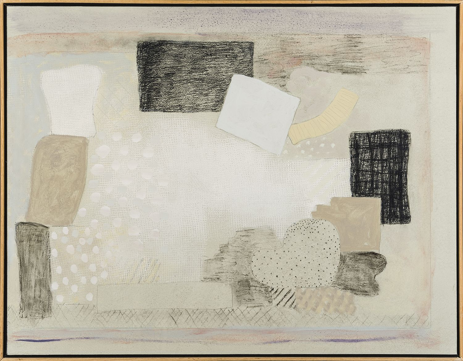 Untitled, 1997 Acrylic and graphite on paper mounted on canvas, 27 x 35 in.