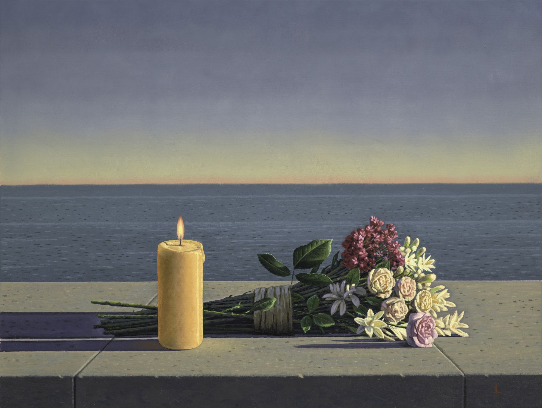 David Ligare (b. 1945), Candle and Flowers, 2018