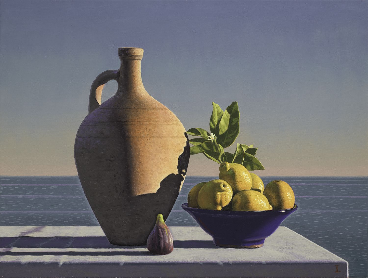 David Ligare (b. 1945), Still Life with Lemons, Fig and Pot, 2018