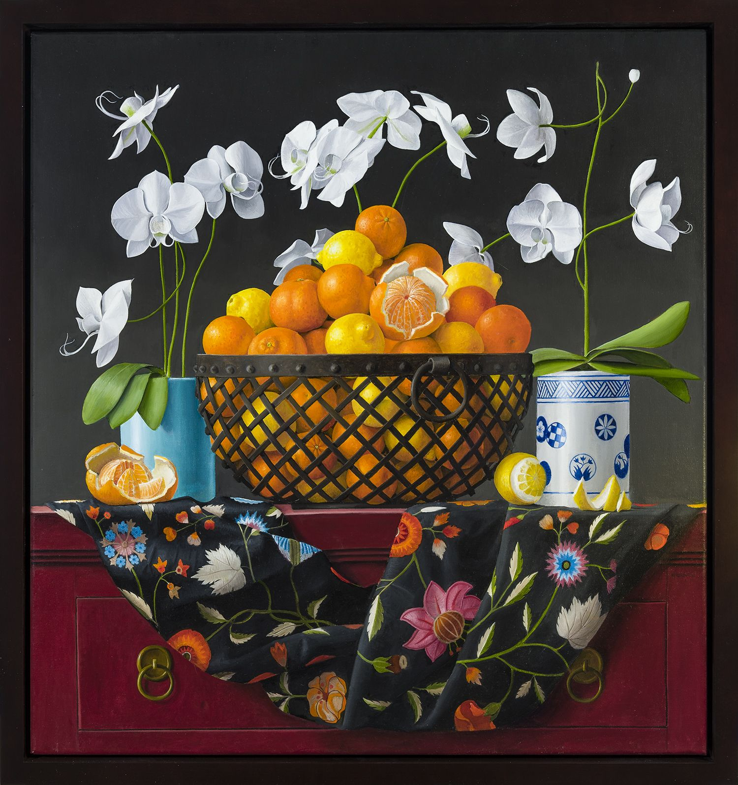 James Aponovich (b. 1948), Still Life with Oranges in a Basket, 2017