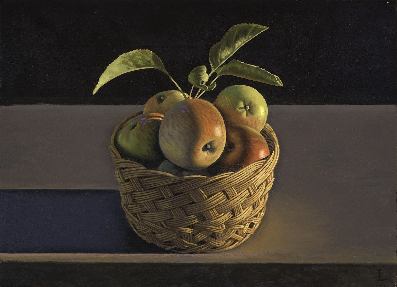 David Ligare (b. 1945), Still Life with Apples and Basket, 2014