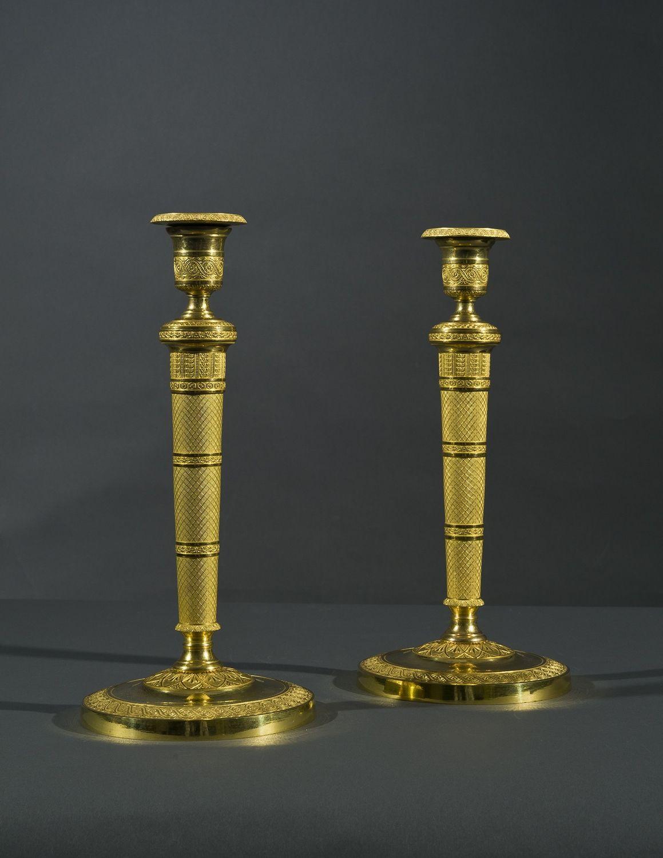 Pair Candlesticks in the Restauration Taste, about 1820