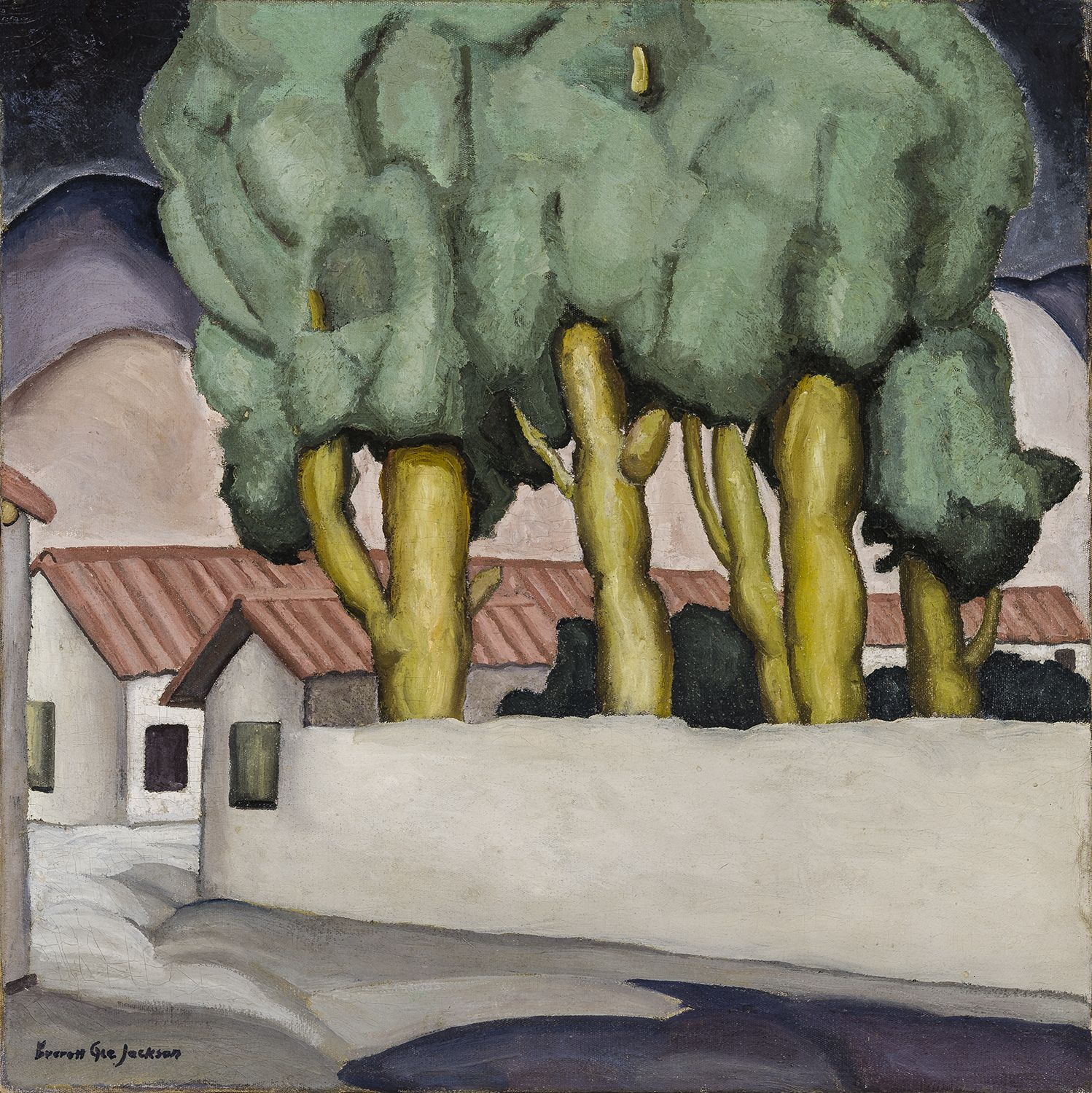 Street in Ajijic, 1926, Oil on canvas, 24 x 24 in.