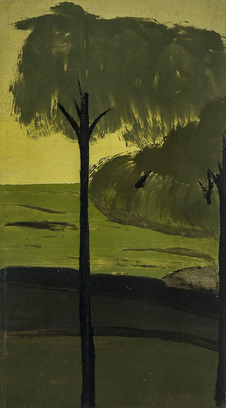 Tonal Landscape with Green and Gold