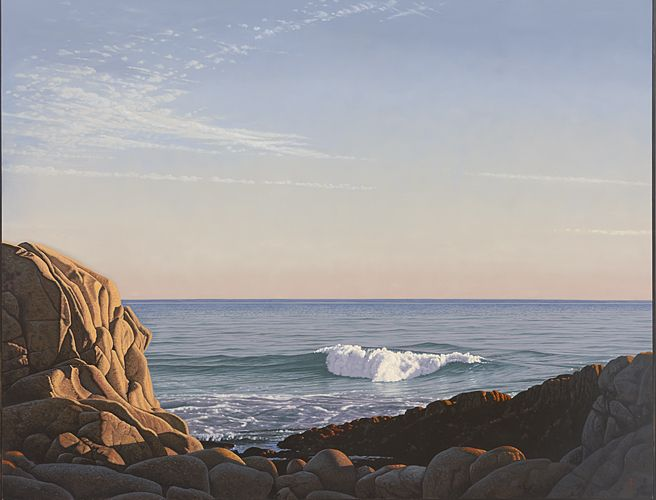 Seascape with Wave, 2011, Oil on canvas, 60 x 80 in.