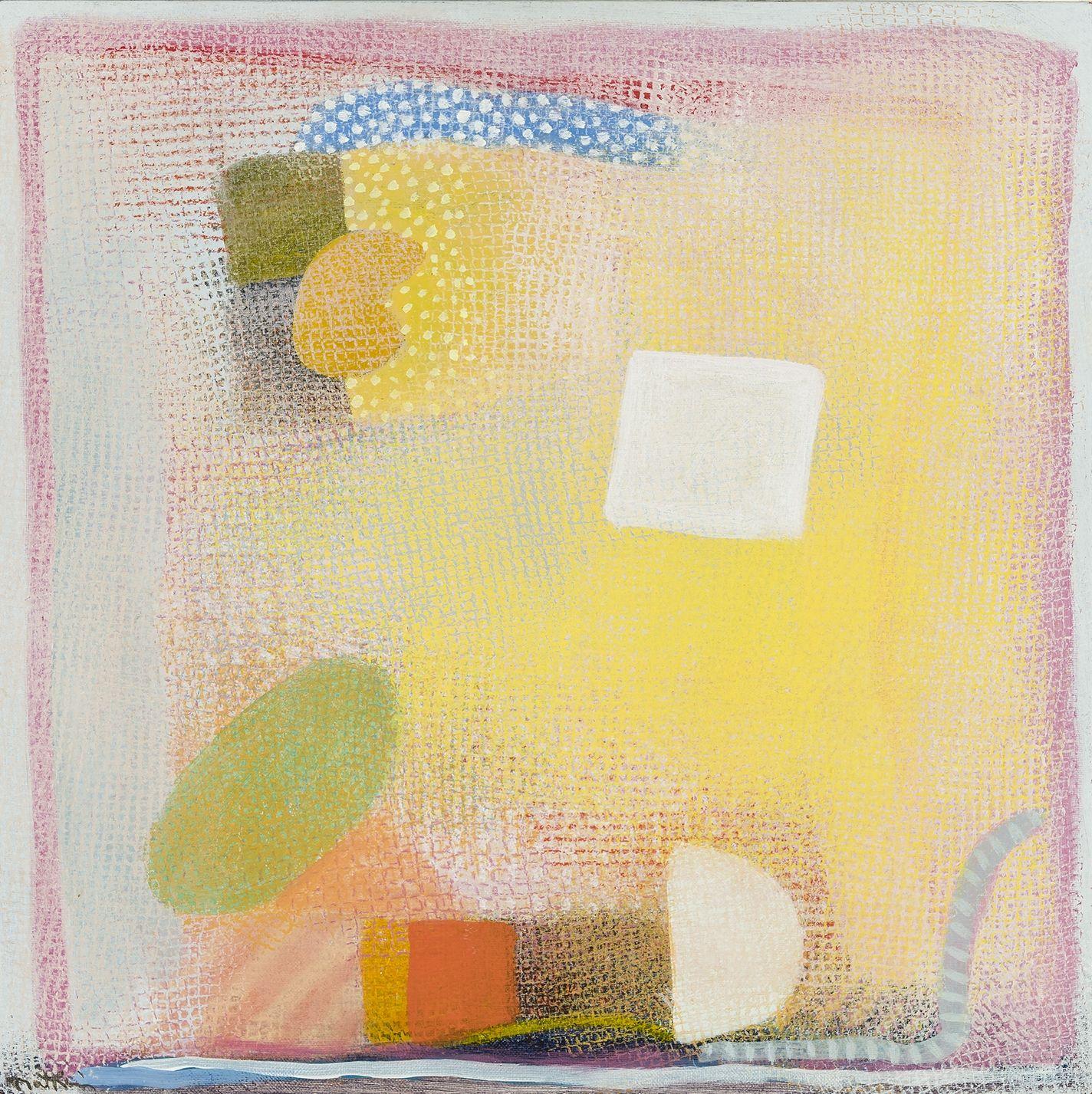Danae, 1995 Acrylic on canvas, 18 x 18 in.